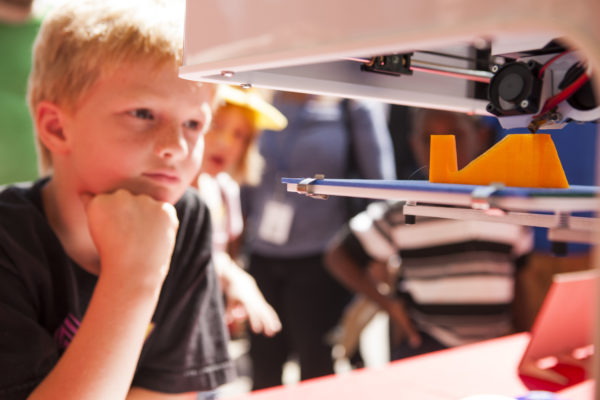 3d printer & boy