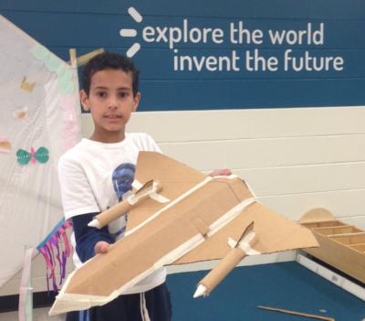 cardboard airplane - KID Museum